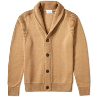 Edifice Shawl Cardigan Brown