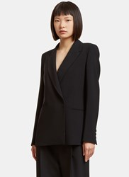 Msgm Oversized Double Breasted Blazer Black