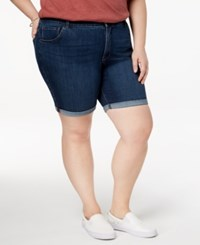 Lee Platinum Plus Size Roll Cuff Denim Shorts Atlas