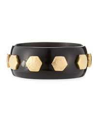Ashley Pittman Rasmi Dark Horn Bangle Brown