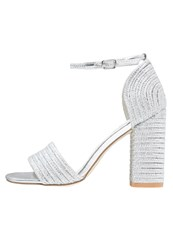 Glamorous High Heeled Sandals Silver