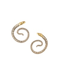 Konstantino Gold And Sterling Silver Snake Coil Earrings