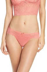 Chelsea 28 Women's Chelsea28 Lacy Days Hipster Briefs Coral Peach