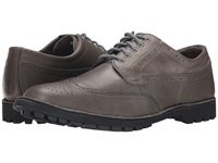 Sebago Metcalf Wing Tip Grey Leather Men's Lace Up Wing Tip Shoes Gray