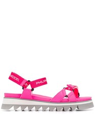 Philippe Model Logo Touch Strap Sandals Pink