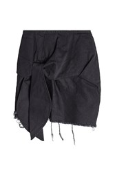 Marques ' Almeida Frayed And Knotted Cotton Mini Skirt