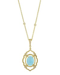 Penny Preville Arabesque Aquamarine And Diamond Pendant Necklace