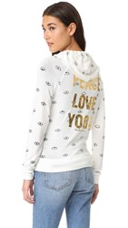Spiritual Gangster Evil Eye Peace Love Yoga Hoodie Stardust
