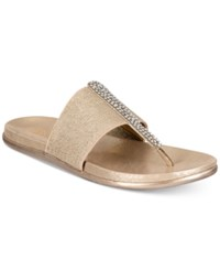 Kenneth Cole Reaction Slim Stand Flat Sandals Soft Gold