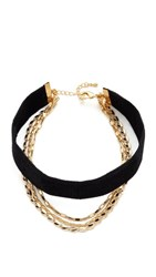 Lacey Ryan Layered Up Choker Necklace Black Gold