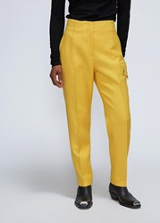 Calvin Klein 205W39nyc 'S High Waisted Trouser Pants In Daffodil Size 38 100 Virgin Wool
