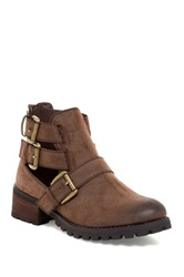 Penny Loves Kenny Murk Buckle Cutout Boot Brown