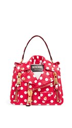Moschino Polka Dots Biker Bag Fantasy Print Red