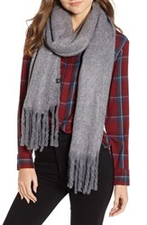Treasure And Bond Solid Brushed Wrap Scarf