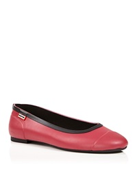 Hunter Rain Flats Ballet Raspberry