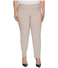 Krazy Larry Plus Size Microfiber Long Skinny Dress Pants Sand Women's Dress Pants Beige