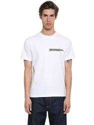 Calvin Klein 205W39nyc Embroidered Heavy Cotton Jersey T Shirt White