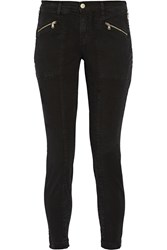 J Brand Genesis Stretch Cotton Twill Skinny Pants Black