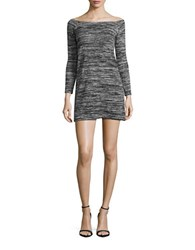 Design Lab Lord And Taylor Marled Knit Oversized Tunic Heather Grey