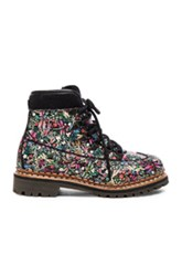 Tabitha Simmons Leather Bexley Boots In Floral