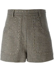 Red Valentino Studded Tweed Shorts Nude And Neutrals