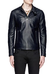 Acne Studios 'Alex' Leather Biker Jacket Black