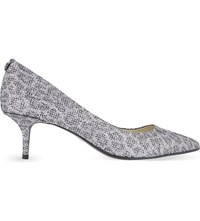 Michael Michael Kors Flex Kitten Heel Court Shoes Gunmetal