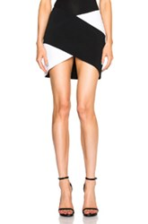 Thierry Mugler Mugler Bi Color Fitted Cady Skirt In Black White