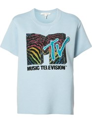 Marc Jacobs Mtv Branded T Shirt Blue