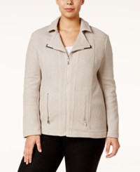 Alfani Plus Size Textured Moto Jacket Only At Macy's French Stone