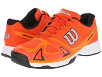 Wilson Rush Evo Red Clementine Black Men's Tennis Shoes Orange