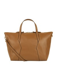 Sandro Leather Tote Bag Beige