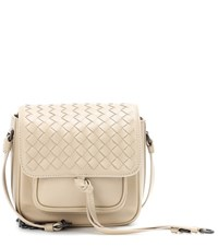 Bottega Veneta Intrecciato Leather Crossbody Bag Neutrals