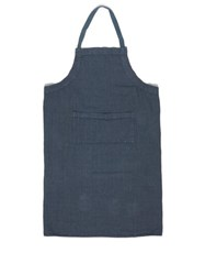 Once Milano Crushed Linen Apron Blue