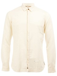 Dnl Spread Collar Shirt White