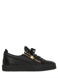 Giuseppe Zanotti 20Mm Leather And Patent Sneakers