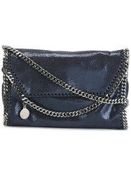 Stella Mccartney Falabella Shaggy Deer Crossbody Bag Blue