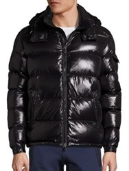 Moncler Maya Shiny Puffer Jacket Red Navy Black
