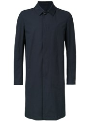 Attachment Top Button Coat Black