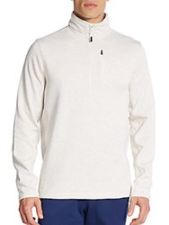 Fila Heathered Half Zip Pullover Oatmeal
