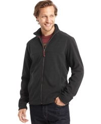 G.H. Bass And Co. Full Zip Mock Neck Arctic Fleece Jacket Forged Iron