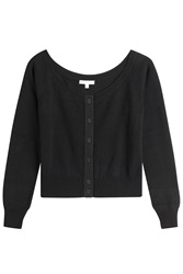 Olympia Le Tan Virgin Wool And Cashmere Cardigan Black