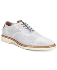 Alfani Varick Comfort Flx Textured Knit Oxfords Created For Macy's Shoes Grey
