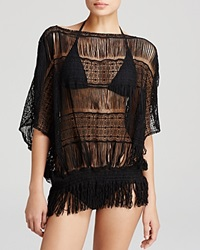 Trina Turk French Lace Swim Cover Up Tunic Black