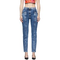 Versace Blue Tapered Jeans