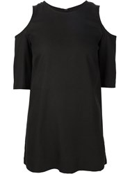 Piamita Cut Out Shoulder T Shirt Black
