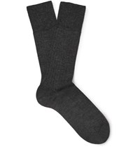 Falke No. 2 Cashmere Blend Socks Charcoal