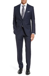 Boss Men's Nova Ben Trim Fit Solid Wool Suit