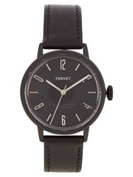 Tsovet Svt Cn38 Leather Watch Black