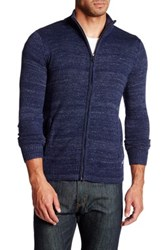 The Fresh Brand Asher Knit Zip Sweater Blue